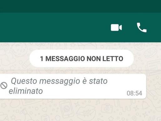 Recuperare messaggi eliminati su whatsapp