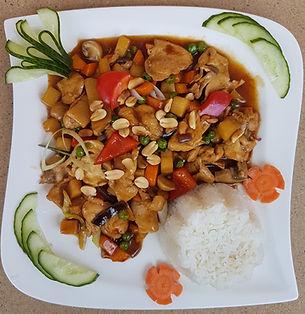 Kuřecí kung-pao s rýží
