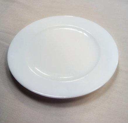 Bajo plato blanco liso