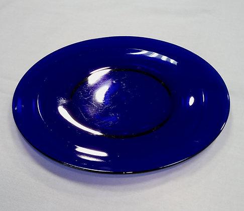 Bajo plato azul cobalto