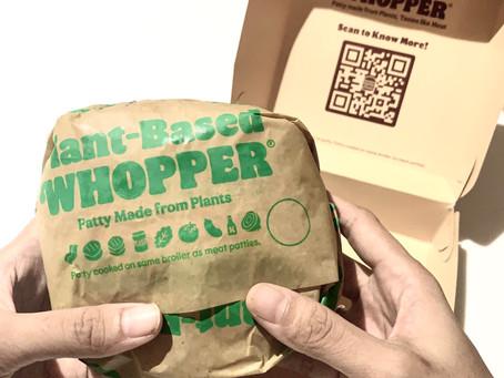Nyobain Plant-Based Whoopernya Burger King