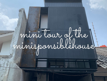 Mini tour of the #minisponsiblehouse