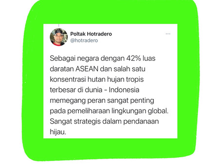 Thread faedah tentang pendanaan hijau