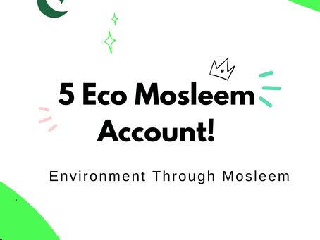 5 Akun Eco Muslim (Environment Through Mosleem)