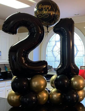 Milestone birthday number columns