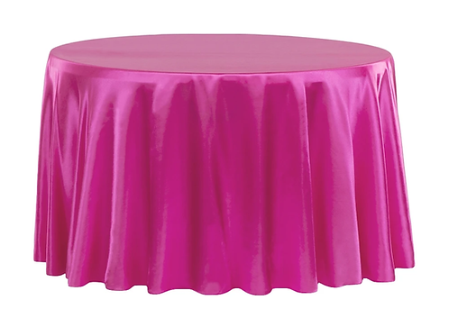 ROUND SATIN TABLECOVERS