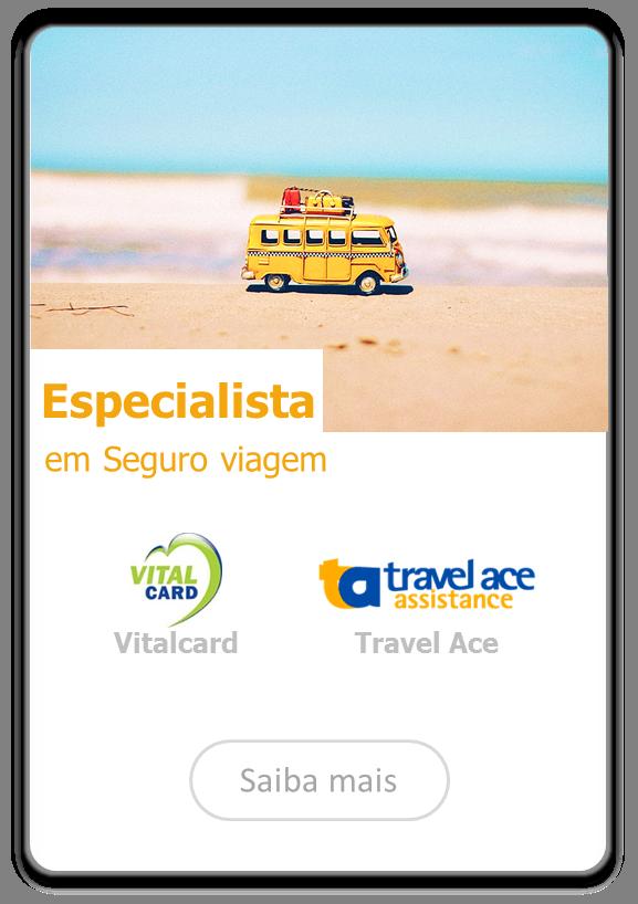 Especialista Travel Ace e Vitalcard