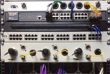 Absolute Broadcast ADAM matrix with SMPTE LAN distribution