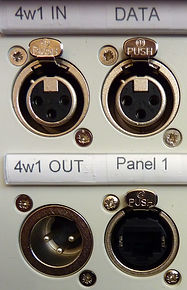 Absolute Broadcast RVON I/O stagebox front panel detail