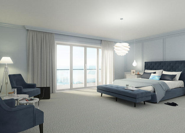Coastal Hotel Bedroom Design, Waterford