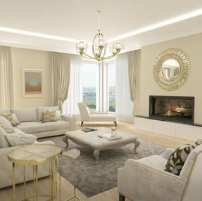 Living room Interior Design, West Cork