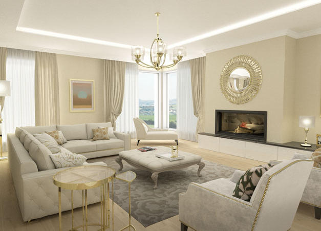 Living room Interior Design, West Cork