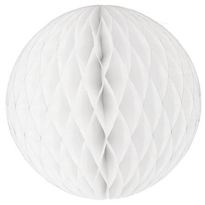 Papírová dekorační koule - bílá