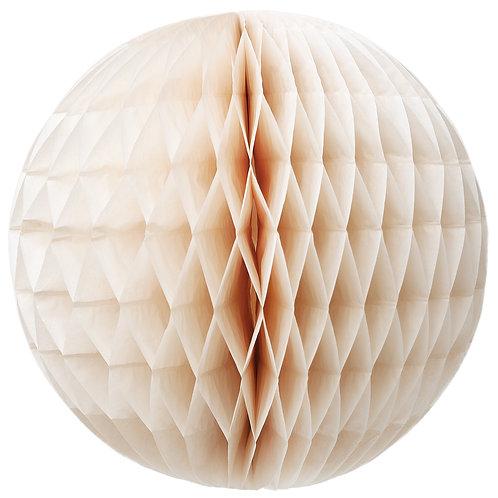 Papírová dekorační koule - krémová