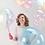 Thumbnail: Průhledný balón modrý 45 cm