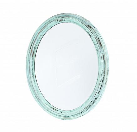 Vintage oválné zrcadlo - WE LOVE WOOD