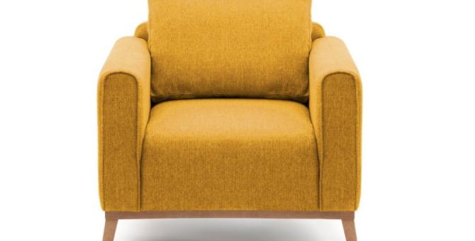 Křeslo Vivonita Milton - hořčicově žluté
