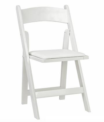 Židle skládací WEDDING - bílá