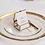 Thumbnail: Skleněný talíř podkladový - zlatý vzor