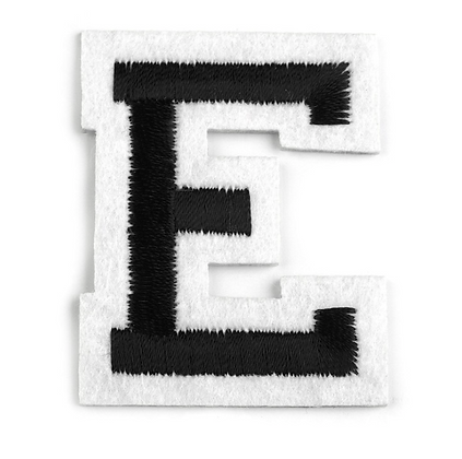 Nažehlovací písmenko E