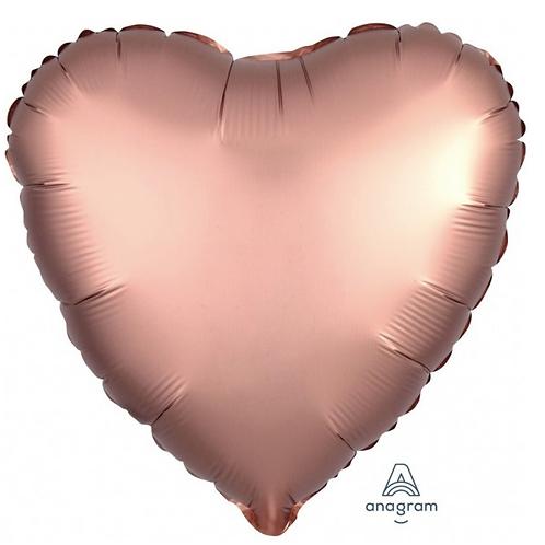 Balónkové srdce měděné