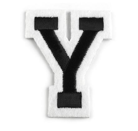 Nažehlovací písmenko Y
