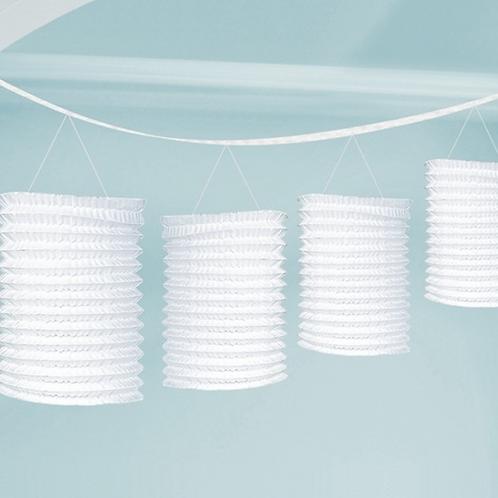 Lampionové girlandy bílé 3,65m