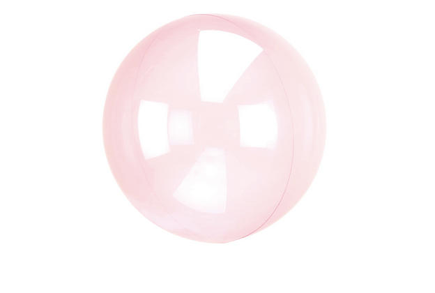 Průhledný balón růžový