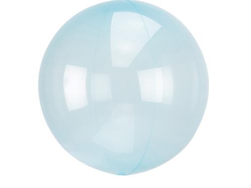 Průhledný balón modrý 45 cm