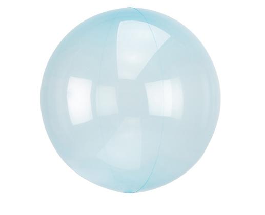 Průhledný balón modrý