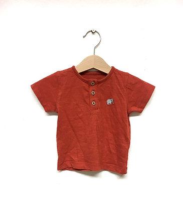 Tričko se slonem červené, M&S, vel. 0-3m