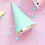 Thumbnail: Party čepičky mintové / sada 6ks
