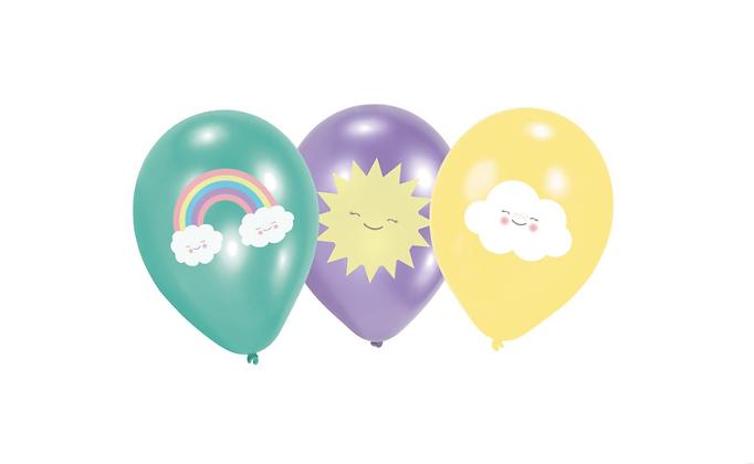 Duha, sluníčko, mráček balónky