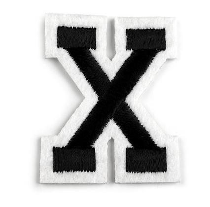 Nažehlovací písmenko X