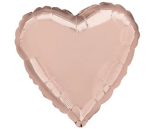 Balónkové srdce růžové