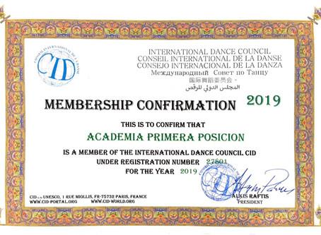Academia Primera Posición ahora es el miembro de la International Dance Council CID