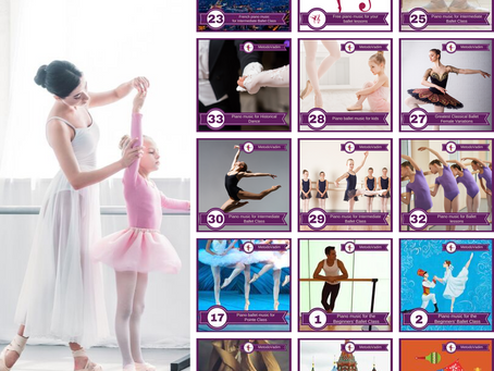 34 albums for ballet class in Spotify