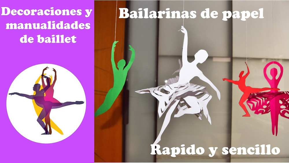 bailarinas de papel, ballet manualidades, bailarinas manualidades