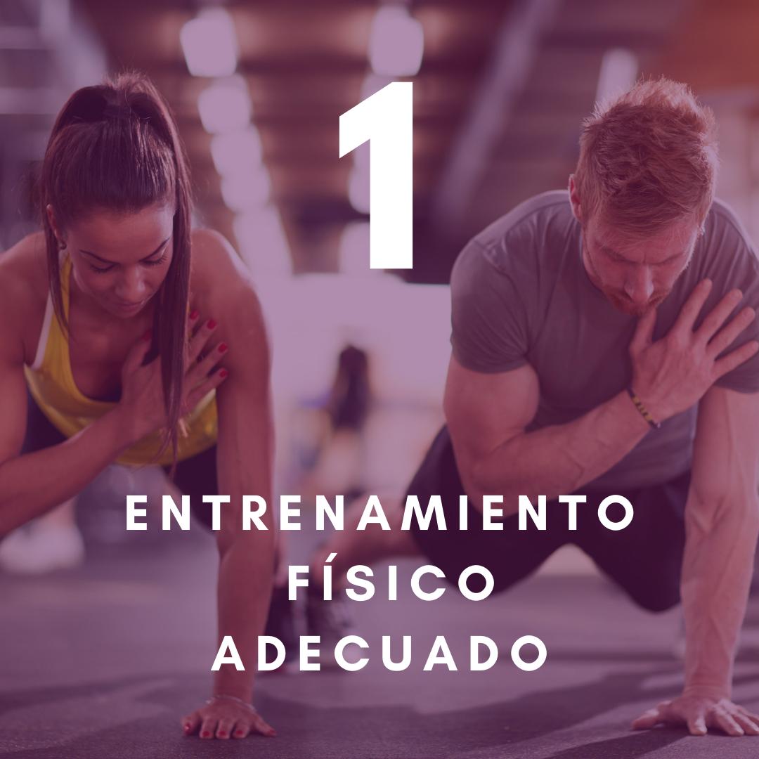 Haz clic aquí para conocer más sobre el entrenamiento físico adecuado