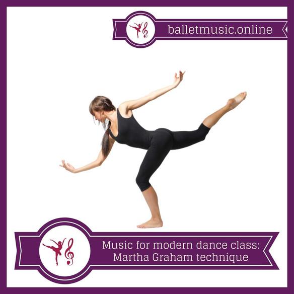 Piano and percussion music for modern (contemporary) dance clase: Martha Graham technique.