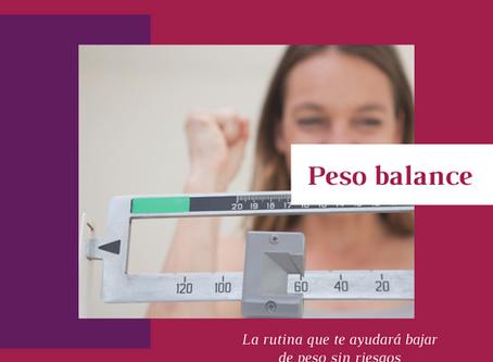 Peso balance: la rutina que te ayudará bajar de peso sin riesgos.