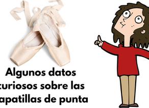 Algunos datos curiosos sobre las zapatillas de punta de ballet