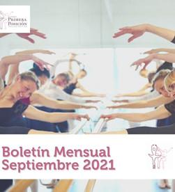 Boletín mensual: Septiembre 2021. Conoce nuestra oferta educativa de ballet para todos