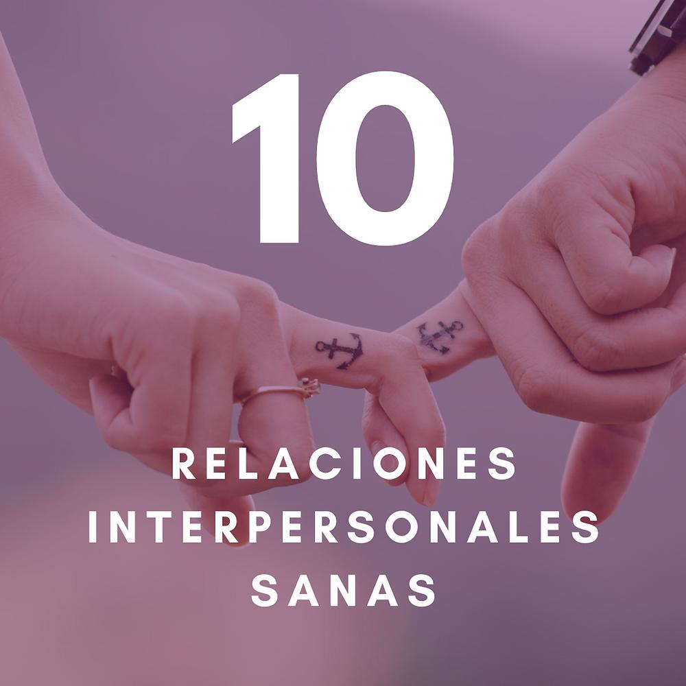 Relaciones interpersonales sanas