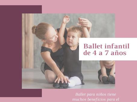 Clases de ballet para más pequeños - Ballet infantil para niñas y niños de 4 a 7 años
