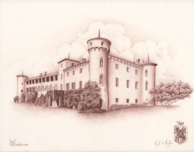 Castello Passerin d'Entrèves 32x25 sang