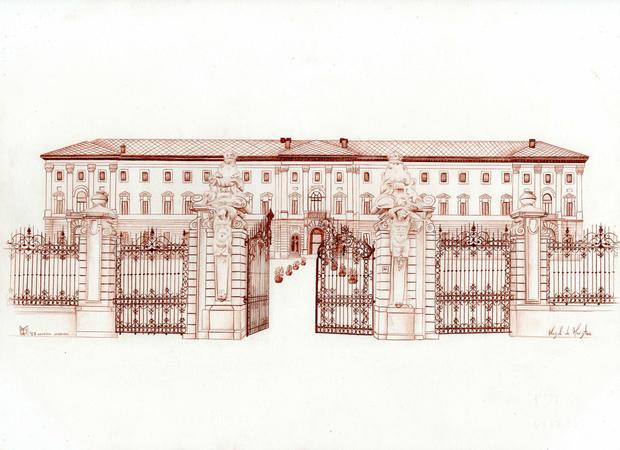 galleria sabauda torino,33x24 cm sanguig