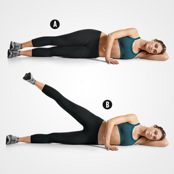 Side lying leg raises