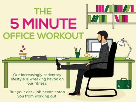 Infographic: 5 Minute Office Workout