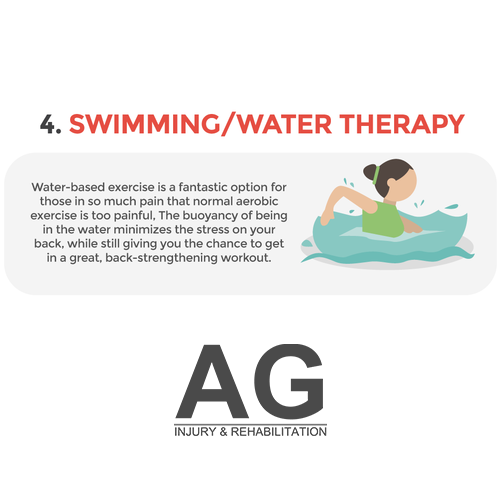 4. Swimming/water therapy/hydrotherapy